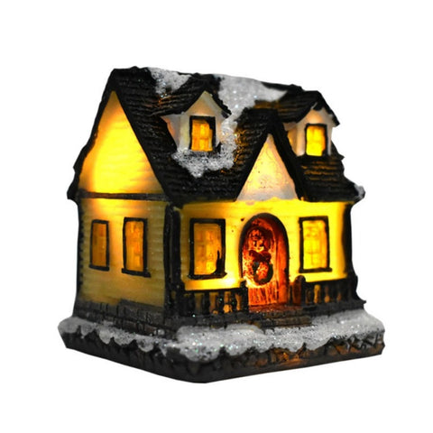 Colorful LED Flashing Christmas Village Farm House - Battery Operated | Christmas Decor | All For Xmas