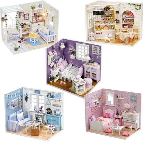 Miniature DIY DollHouse With Furnitures | Christmas Gifts | All For Xmas - All For Xmas