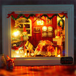 Small DIY Framed Christmas Scene Dollhouse With LED Light | Christmas Decor | All For Xmas