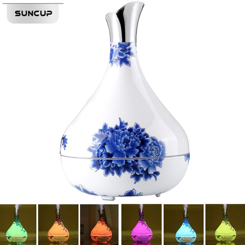 Porcelain Essential Oil Diffuser Air Humidifier 7 Color LED | Christmas Presents | All For Xmas