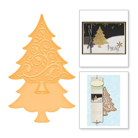 Decorated Christmas Tree - DIY Die Cut | Gifts For Christmas | All For Xmas