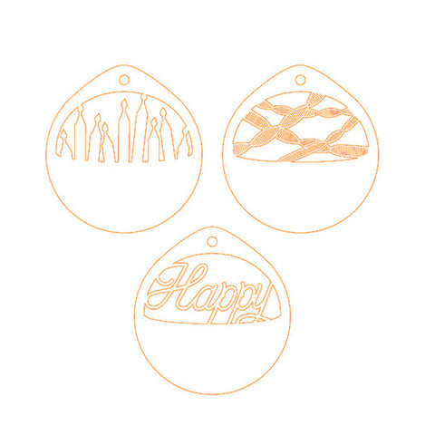 3pcs Happy - Candle - DIY Die Cut | Gifts For Christmas | All For Xmas