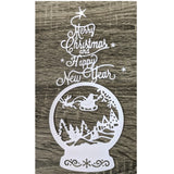 Reindeer Sleigh Circle Metal Cutting Die | DIY Scrapbooking | All For Xmas