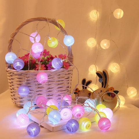Cotton Balls String Lights | Christmas Lighting | All For Xmas