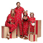 Christmas Family Matching Pajamas - Red Rudolph | Christmas Apparel | All For Xmas - All For Xmas