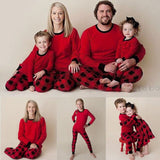 Christmas Family Matching Pajamas - Red Plaid | Christmas Apparel | All For Xmas