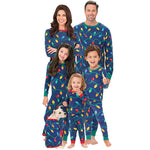 Christmas Family Matching Pajamas - Tree Lights | Christmas Apparel | All For Xmas - All For Xmas
