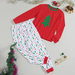 Christmas Family Matching Pajamas - Red White Green Trees | Christmas Apparel | All For Xmas