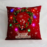 LED Light Christmas Pillow Case Cushion Cover | Home Decor | All For Xmas