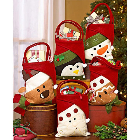 Cloth Christmas Gift Candy Bag | Gift Decor | All For Xmas - All For Xmas