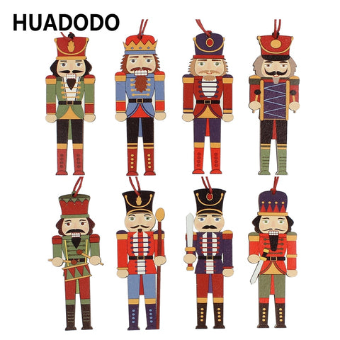 3Pcs wooden Nutcracker soldier Christmas decoration | All For Xmas - All For Xmas