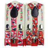 Cats And Dogs Santa Adjustable Clip On Christmas Suspenders | Children Christmas Apparel | All For Xmas