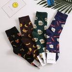Funny Food Combed Cotton Socks - One Size | Christmas Apparel | All For Xmas - All For Xmas