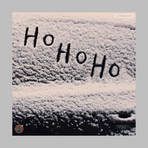 Ho Ho Ho Snow Christmas Card | Greeting Cards | All For Xmas - All For Xmas