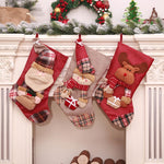Christmas Traditional Printed 3D Stocking - 3 designs | Home Decor | All For Xmas