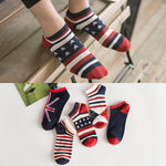 5 Pairs Casual Colorful Cotton Ankle Socks | Christmas Apparel | All For Xmas - All For Xmas