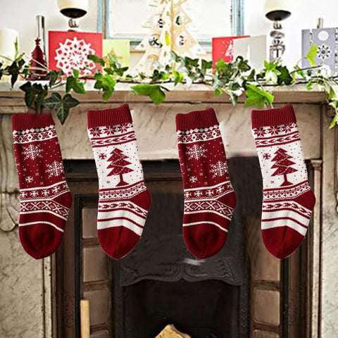 Knitted Christmas Traditional Stocking - 2 Patterns | Home Decor | All For Xmas