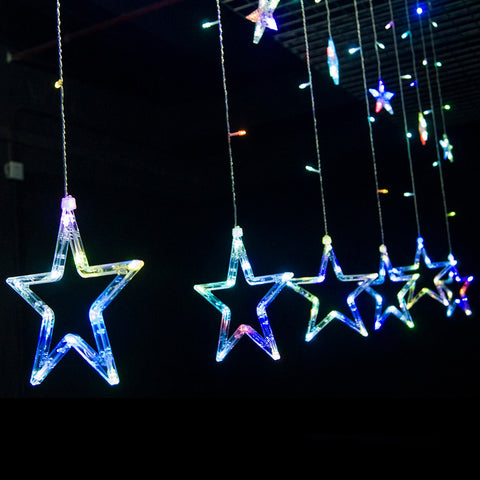 LED Star Waterfall Curtain String Lights | Christmas Lights | All For Xmas - All For Xmas