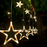 LED Star Waterfall Curtain String Lights | Christmas Lights | All For Xmas