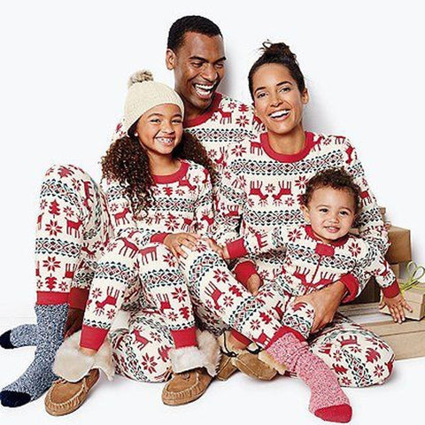Family Matching Christmas Pajamas - Red White Black | Christmas Apparel | All For Xmas - All For Xmas