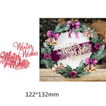 Christmas Greeting Words Metal Cutting Dies | DIY Scrapbooking | All For Xmas