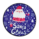 Christmas Round Area Rug Carpet - Purple santa | Home Decor | All For Xmas