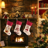 3Pcs Set Christmas Knitted Tags Stockings - Santa Snowman Reindeer | Home Decor | All For Xmas