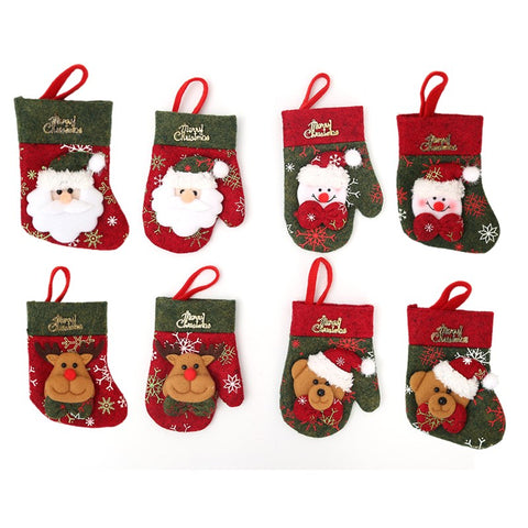 Mini Christmas Tree Stockings And Gloves | Tree Decorations | All For Xmas