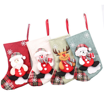 Christmas Cloth Stocking - Santa Snowman Reindeer Polar Bear | Home Decor | All For Xmas