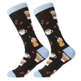 Colorful Cotton Blend Medium Length Socks - One Size (US 7-12) | Christmas Apparel | All For Xmas