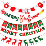 Hanging Flag Merry Christmas Decoration | Home & Tree Xmas Decor | All For Xmas