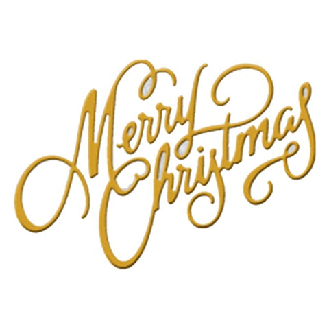 Merry Christmas Greeting Metal Cutting Dies | DIY Scrapbooking | All For Xmas