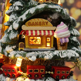 Miniature DIY Music Box Winter Fair DollHouse | Christmas Decorations | All For Xmas