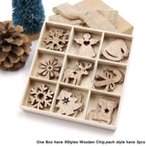 Wooden DIY Christmas Ornaments - 50PCS | Tree Decorations | All For Xmas