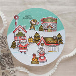Christmas Village Metal Cutting Die or Stamps | DIY Scrapbooking | All For Xmas