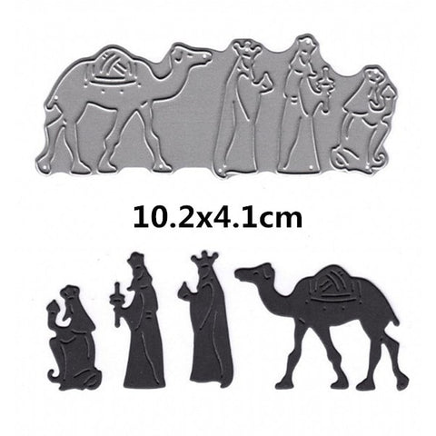 Nativity Scene Metal Cutting Dies | DIY Scrapbooking | All For Xmas