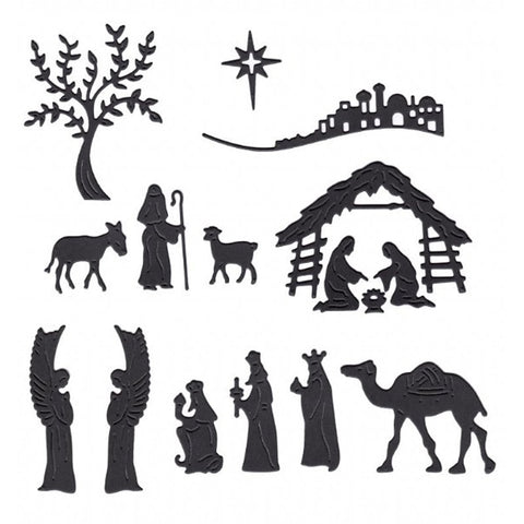 Nativity Scene Metal Cutting Dies | DIY Scrapbooking | All For Xmas - All For Xmas