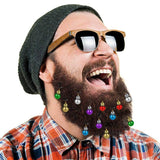 12PCS Santa Claus Beard Decoration | Colorful Hanging Beard Clips | All For Xmas