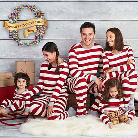 Christmas Family Matching Pajamas - Red Stripes | Christmas Apparel | All For Xmas - All For Xmas
