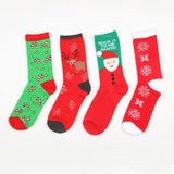 Christmas Colorful Cotton Socks - One Size | Christmas Apparel | All For Xmas - All For Xmas