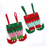 Elf Pants Christmas Hanging Standing Stockings | Home Decor | All For Xmas
