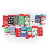 Colorful Cotton Christmas Medium Length Socks - One Size | Christmas Apparel | All For Xmas - All For Xmas