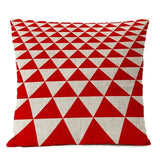Red White Christmas Cotton Linen Pillow Case Cushion Cover | Home Decor | All For Xmas