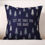 Grey-scale Patterns Christmas Cotton Linen Pillow Case Cushion Cover | Home Decor | All For Xmas