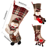 Large Christmas Cloth Plaid 3D Stocking - 7 designs | Home Decor | All For Xmas - All For Xmas