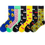 5 Pairs Colorful Cotton Blend Socks - Men Women | Christmas Apparel | All For Xmas - All For Xmas