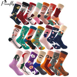 Funny Colorful Cotton Blend Harajuku Socks - One Size | Christmas Apparel | All For Xmas