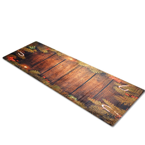 Long Wooden Christmas Floor Mat Kitchen Rug | Home Decor | Allf For Xmas