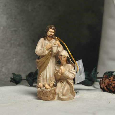 Christmas Nativity Scene Ornament - Joseph Mary Baby Jesus | Christmas Decor | All For Xmas
