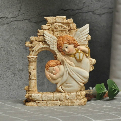 Nativity Scene - Angel Protecting A Baby | Christmas Decor